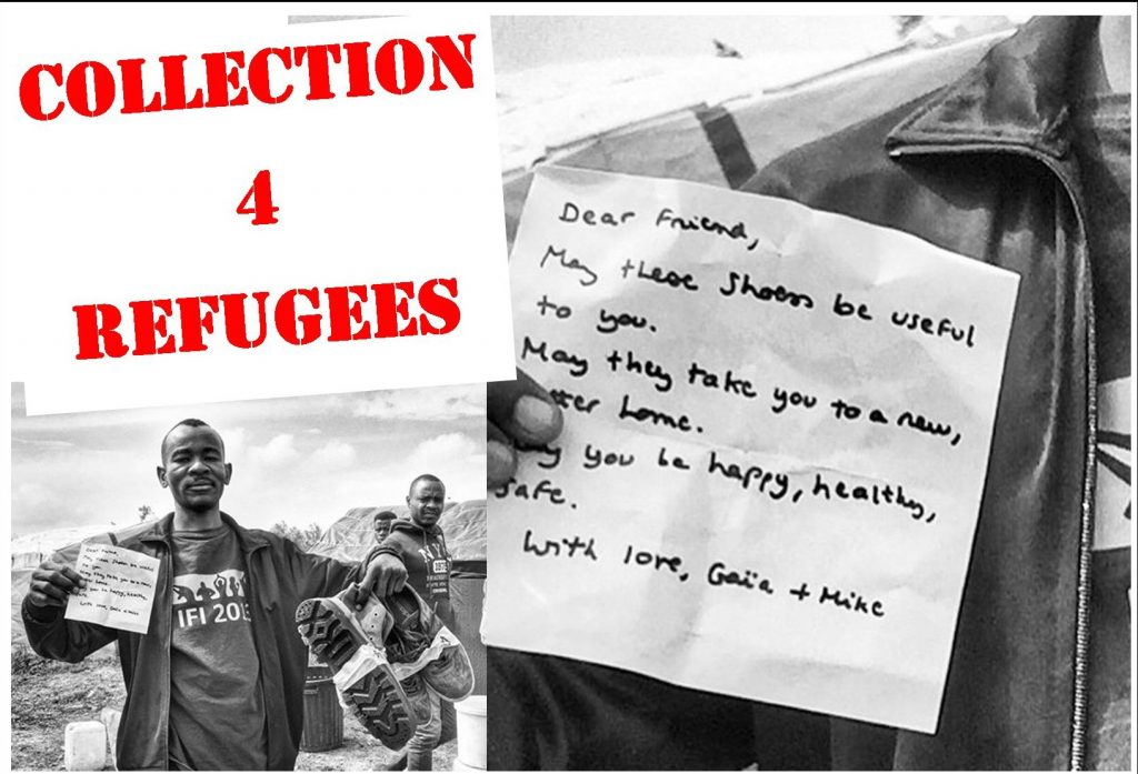 Collection for refugees